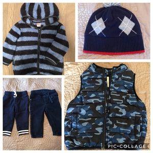 Fall wardrobe for toddler boy 12-24M
